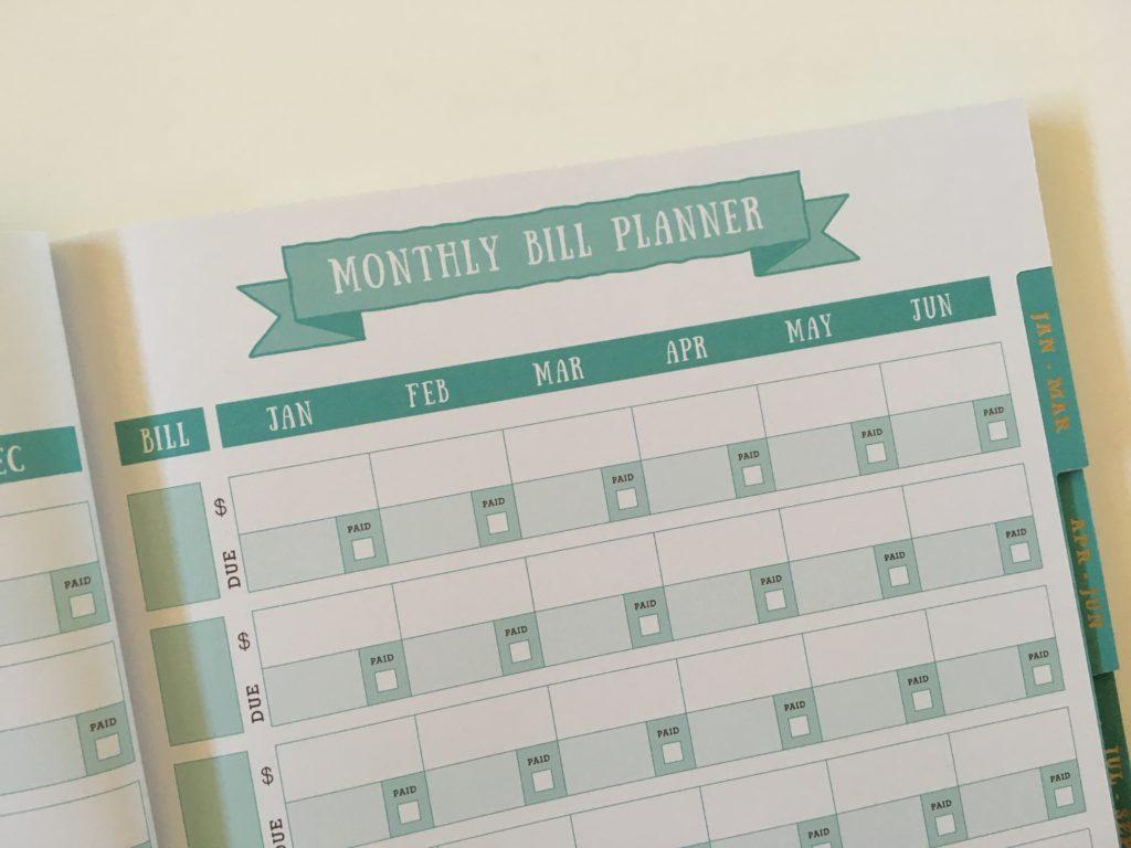 otto budget planner paid bills checklist