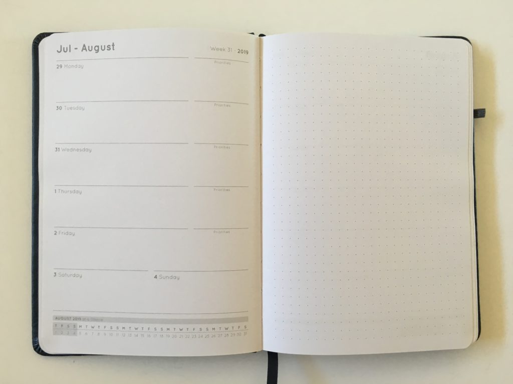 otto planner horizontal weekly 1 page spread dot grid bullet journal crossed with planner review best cheap australian planner