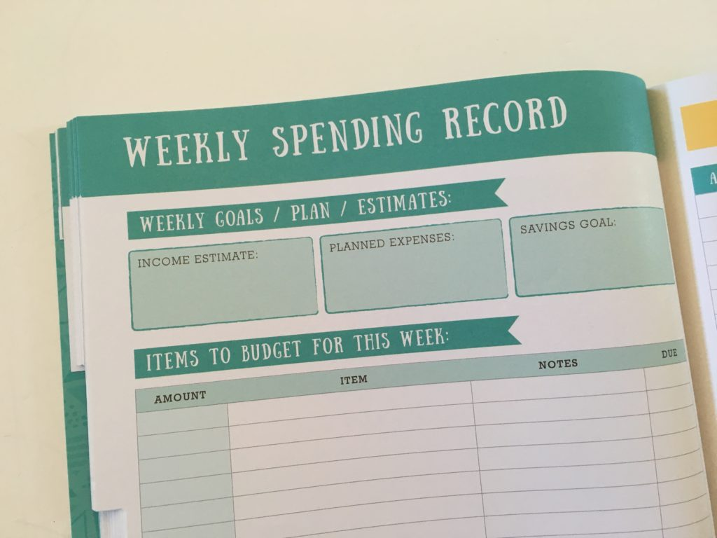 otto weekly spending record income and expenses tracker