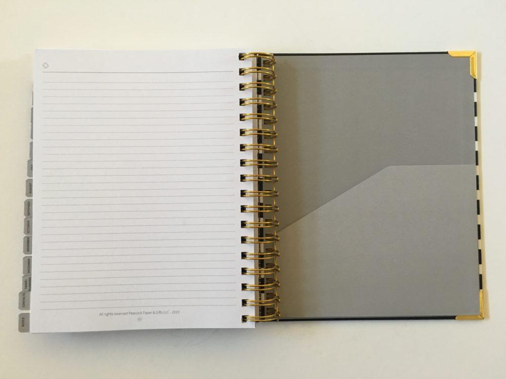 peacock paper planner review pocket folder