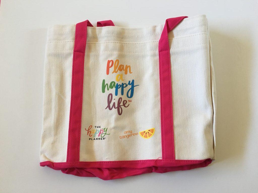 plan a happy life mambi amy tangerine tote bag