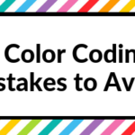 7 Color coding mistakes to avoid in your planner or bullet journal