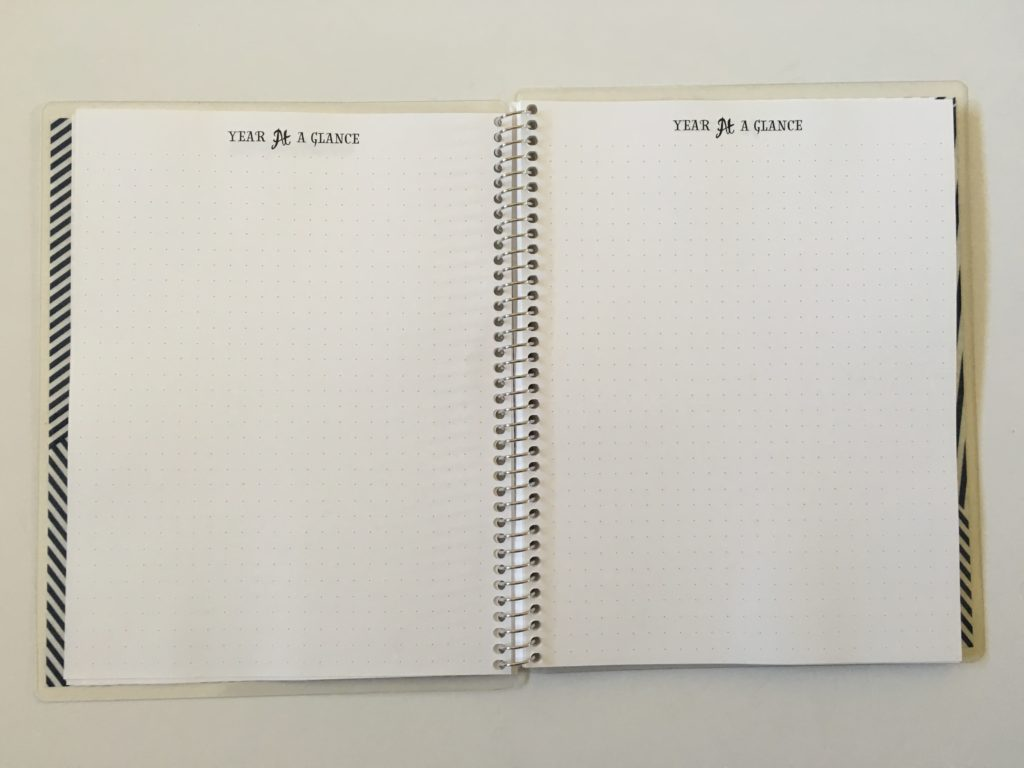 practical paper co dot grid notebook personalised year at a glance future log