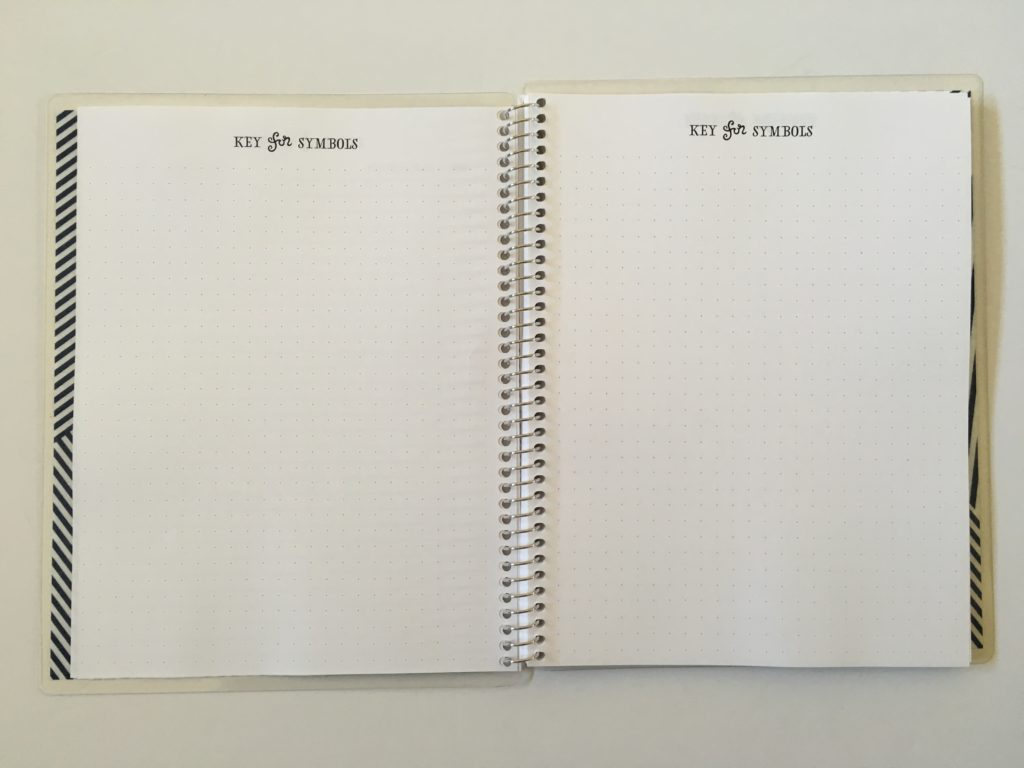 practical paper co dot grid notebook symbol key page bright white paper pen ghosting bleed through test