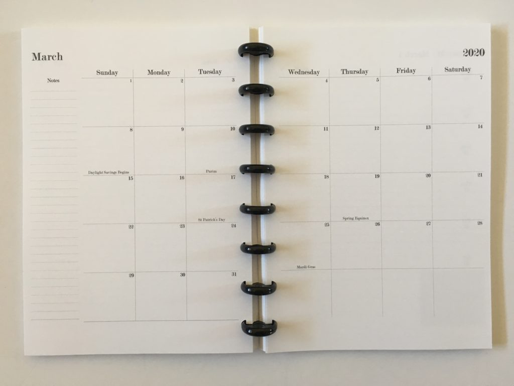 practical paper co hack into discbound planner 2 page monthly calendar