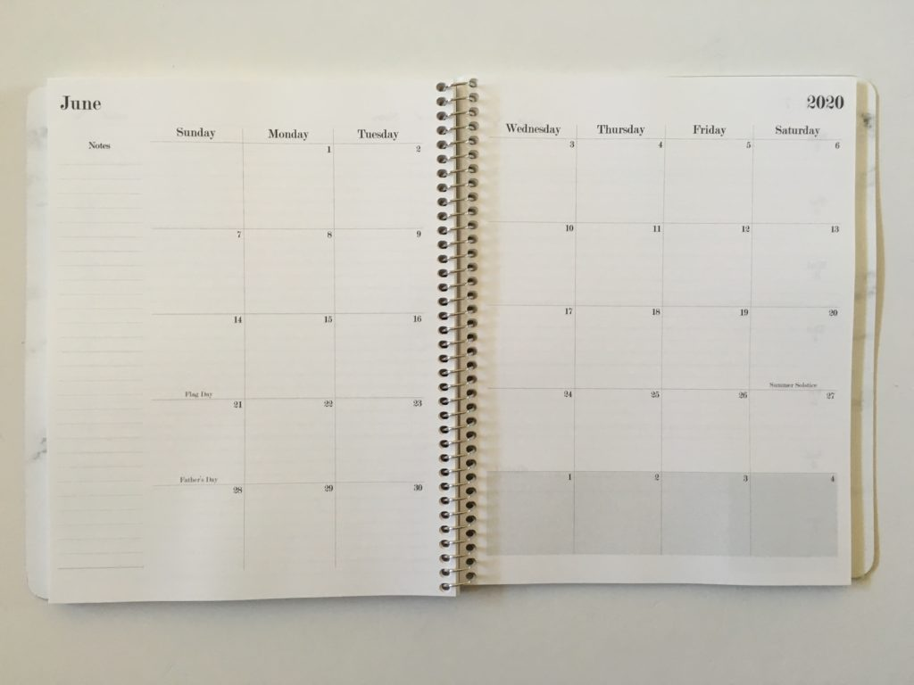 practical paper co planner review monthly spread weekly monday start horizontal vertical custom cover you choose