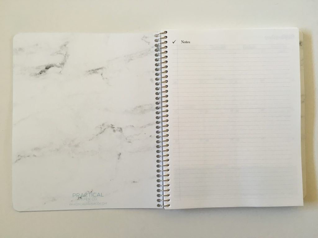 practical paper co planner review monthly spread weekly monday start horizontal vertical custom cover you choose lined notes checklist