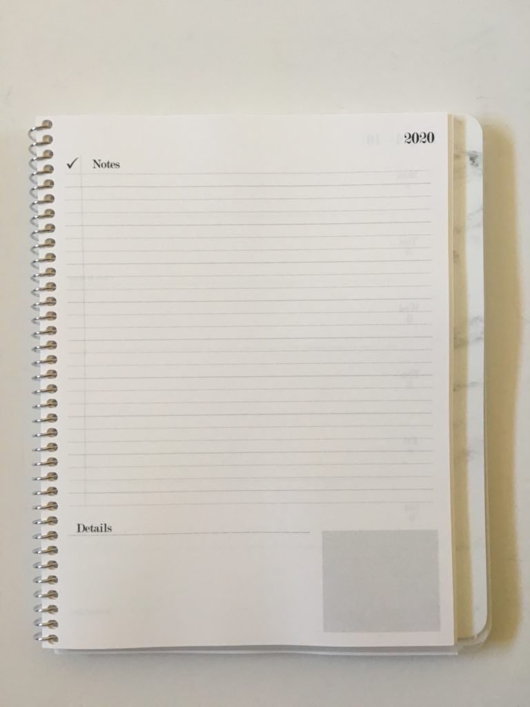 practical paper co weekly planner lined checklist and horizontal weekly spread