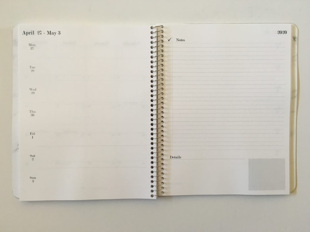 practical paper co weekly planner monday start horizontal lined notes checklist review pros and cons pen testing