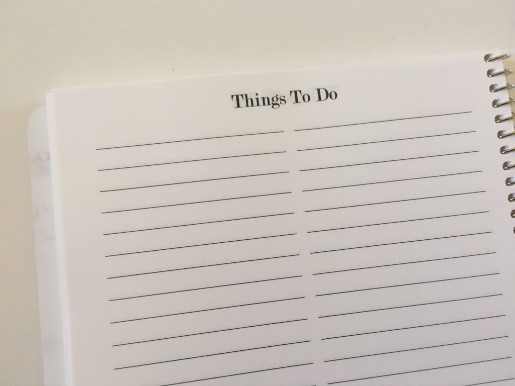 practical paper co weekly planner things to do checklist add on pages