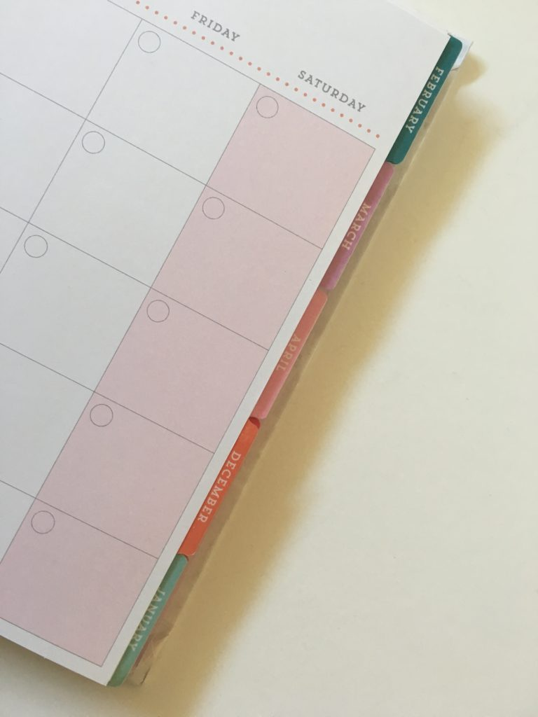 recollections planner tabs