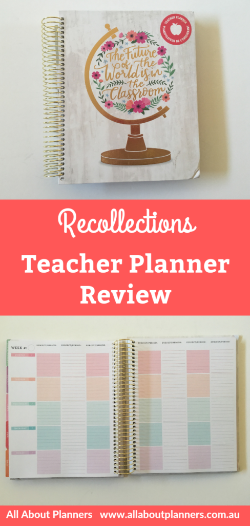 recollections teacher planner review pros and cons video walkthrough lesson planning student 7 subjects periods student college