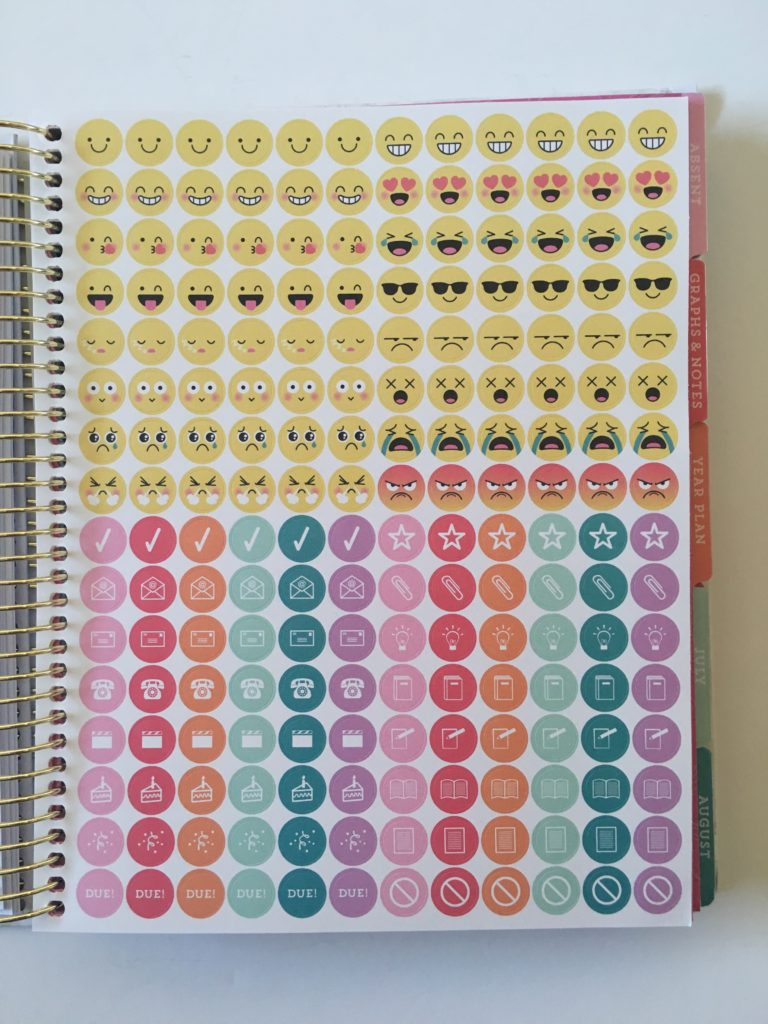 recollections teacher planner stickers functional icon lesson planning no school birthday event labels