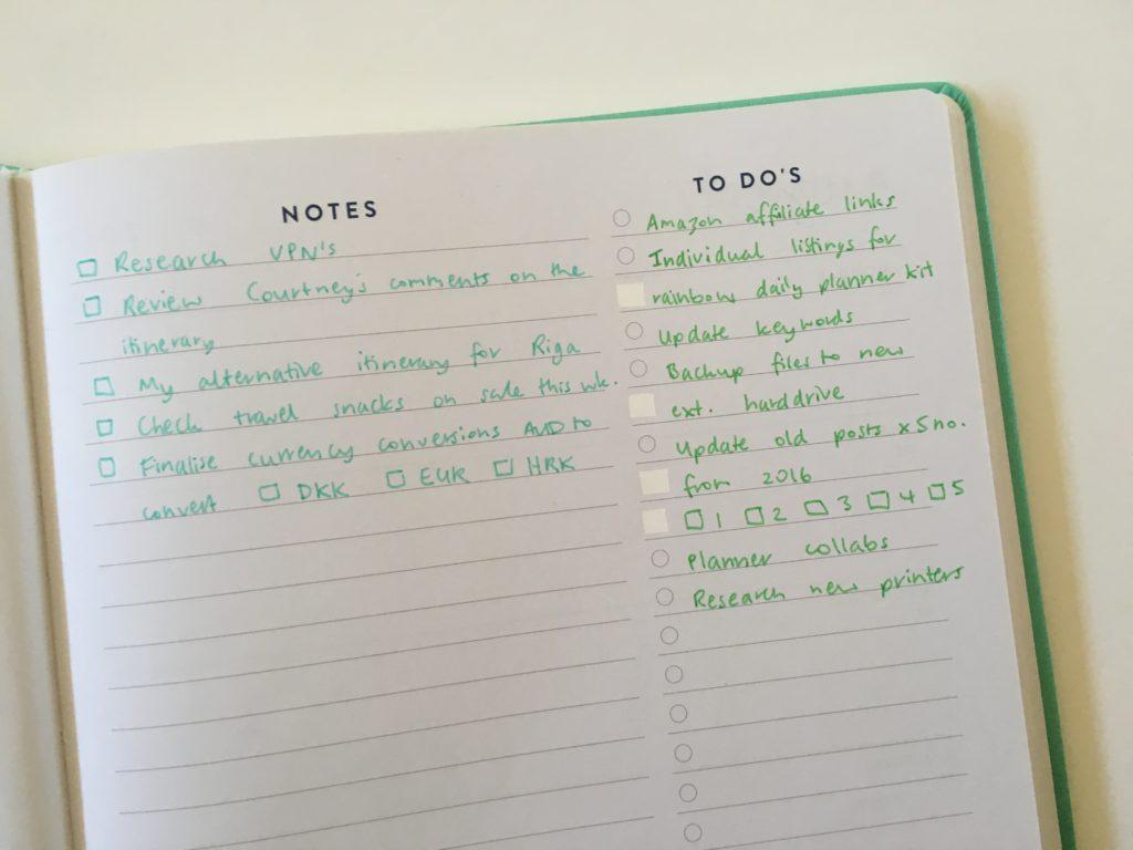simple planner spread hacks eccolo weekly planner