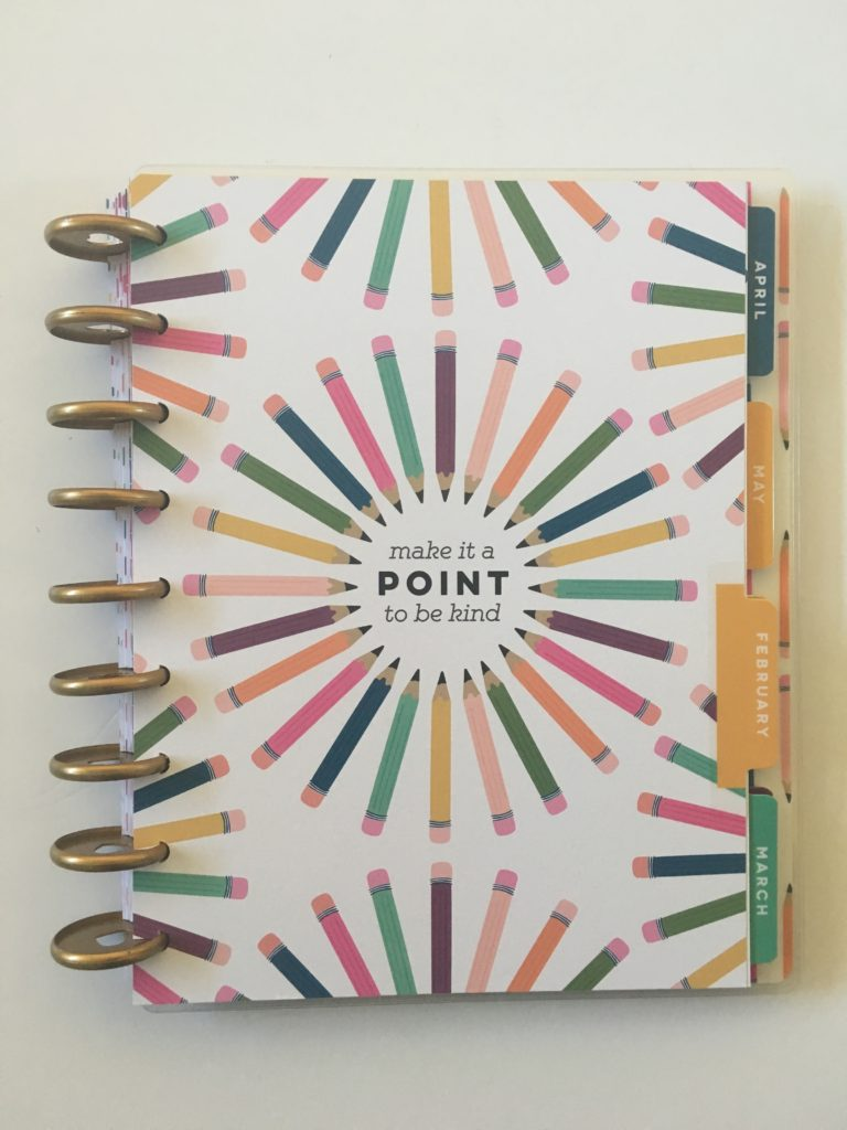 student planner happy planner review college high school planner divider monthly calendar 2 page weekly spread