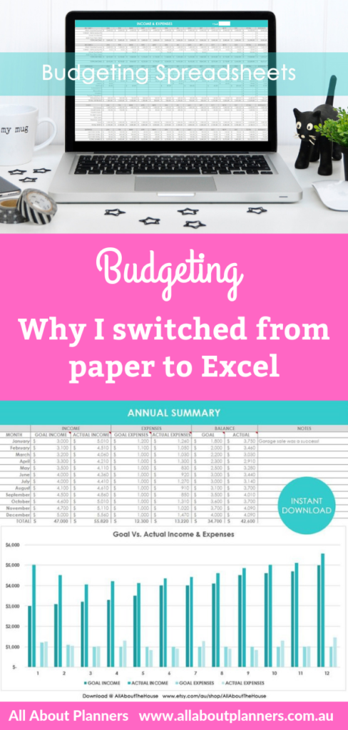 budgeting why i switched from paper to excel digital microsoft how to make pretty spreadsheets quick simple spreadsheet template