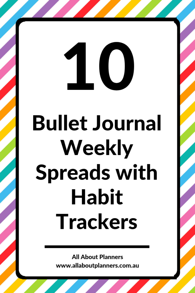 bullet journal weekly spreads with habit trackers inspiration layout ideas bujo example tips