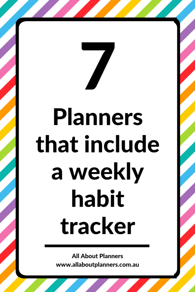 planners with a weekly habit tracker recommendation review routine tasks habit tracker ideas spreads layouts