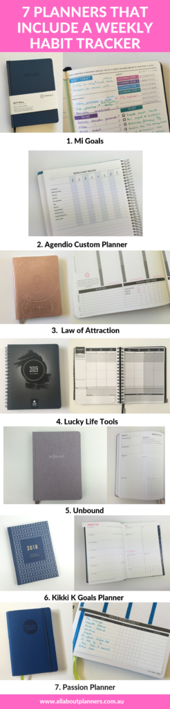 weekly planners that include a habit tracker review roundup recommendation passion planner mi goals unbound kikki k agendio