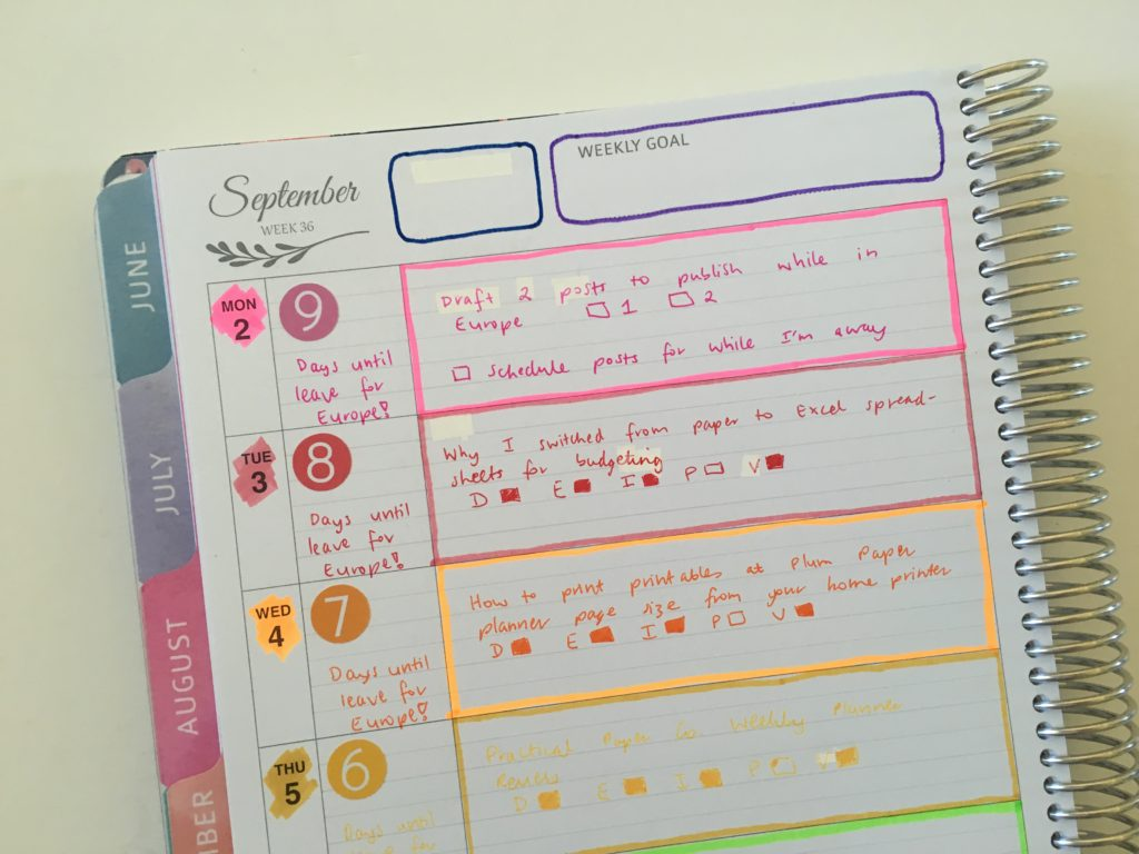 whistle and birch weekly spread rainbow highlighters all about planners