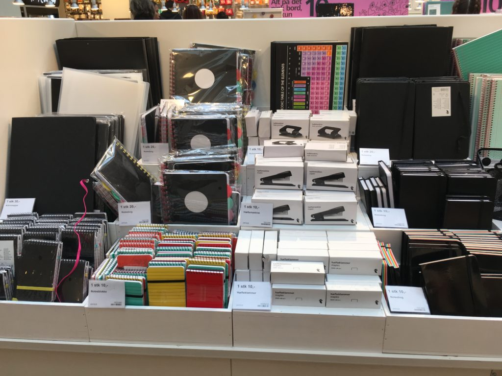 stationery shopping in flying tiger copenhagen