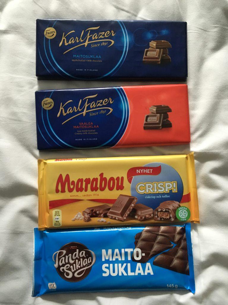 best chocolate in finland favorite finnish chocolate fazer milk maribou swedish milk