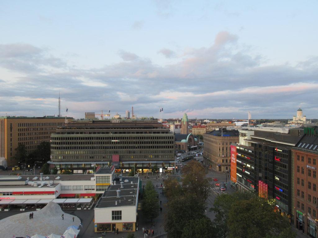 helsinki view from the scandic simonkentta hotel finland september autumn