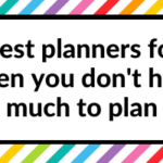 Best planners for when you don't have much to plan