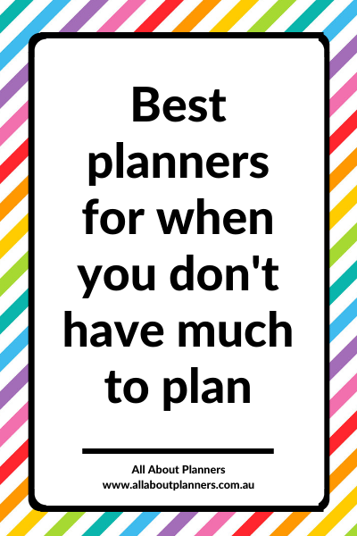 best planners for when you don't have much to plan homebody small page size simple minimalist review recommended