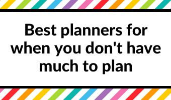 best planners for when you don't have much to plan homebody small page size simple minimalist