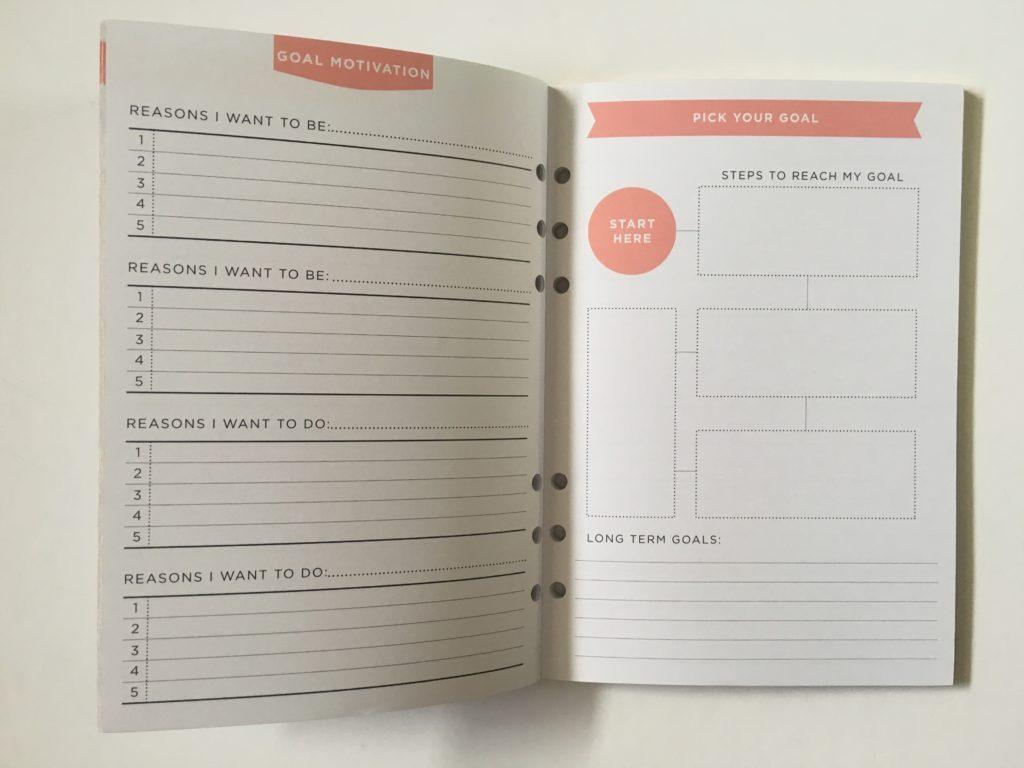 recollections goals planner journal goal planner
