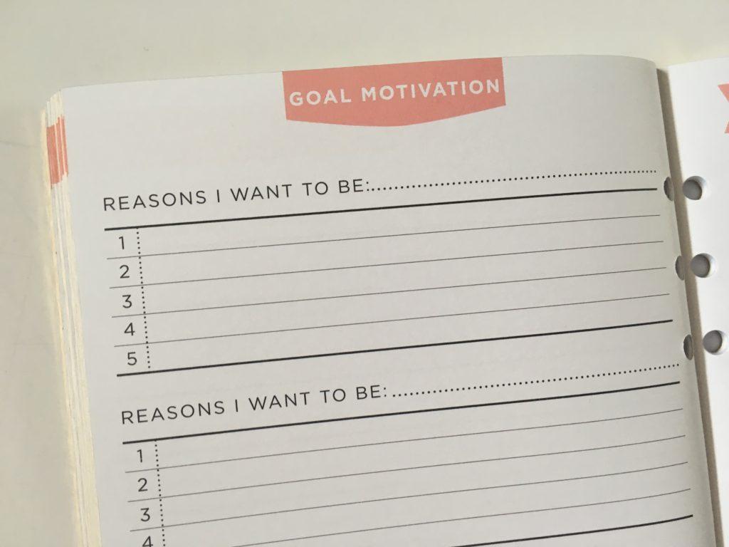 recollections goals planner journal goal setting workbook cheap