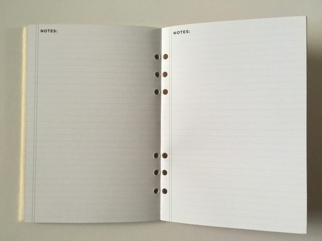 recollections goals planner journal notes ring bound