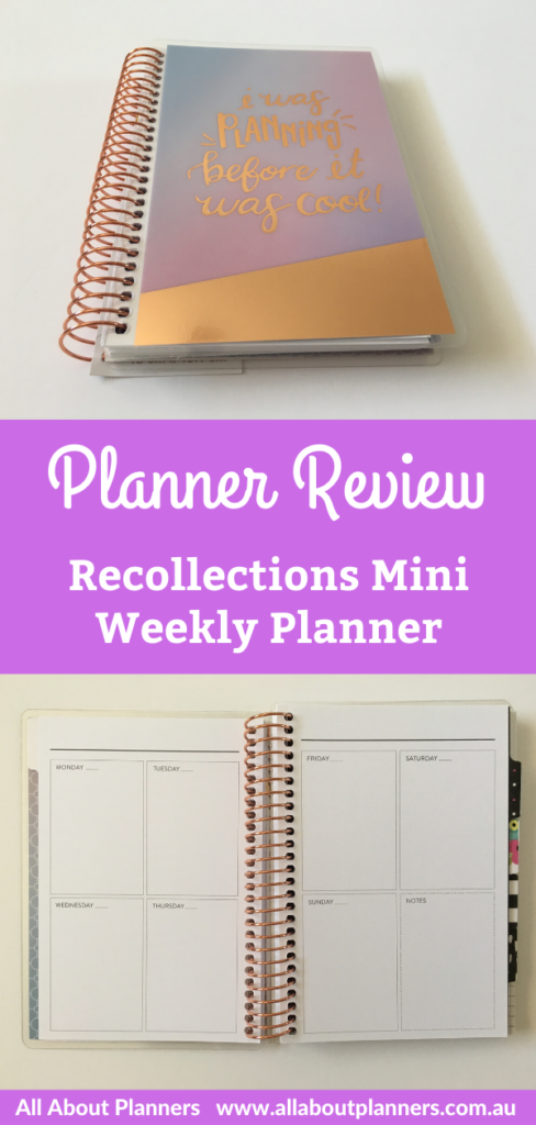 recollections mini weekly planner review pros and cons monday week start monthly calendar small page size compact portable