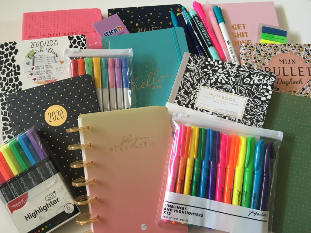 Europe stationery haul dot grid notebook bullet journal highlighters pens all about planners review video paperchase bujo belgium netherlands germany