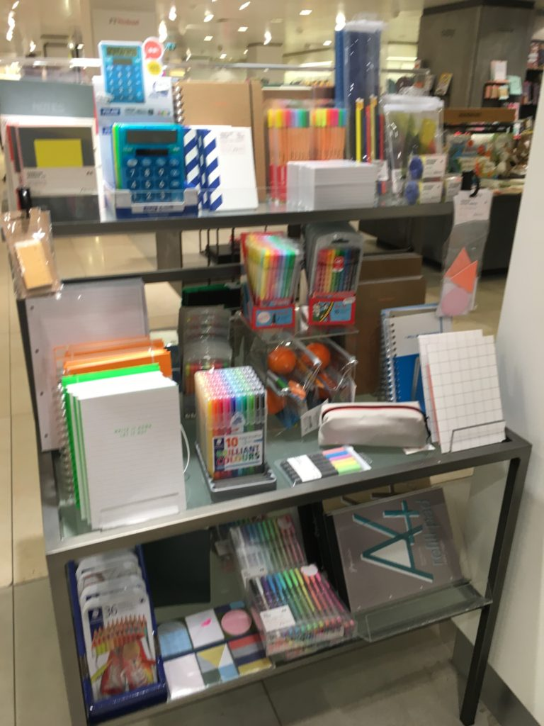 De Bijenkorf Department Store amsterdam dam square netherlands paperchase highlighters kraft dot grid notebook planner supplies recommendation