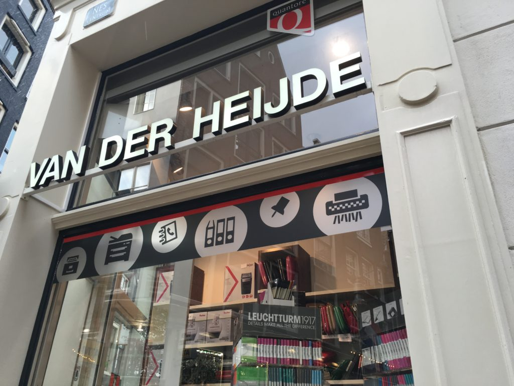 Van Der Heijde amsterdam stationery shop netherlands planner supplies