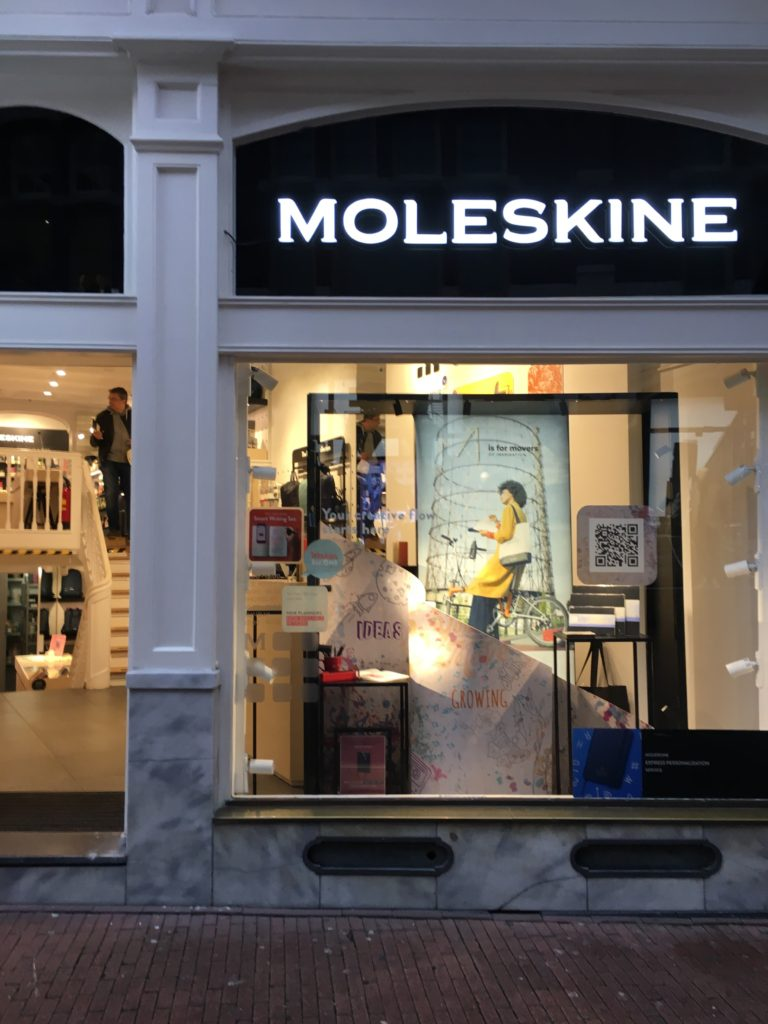moleskine store amsterdam netherlands stationery shopping