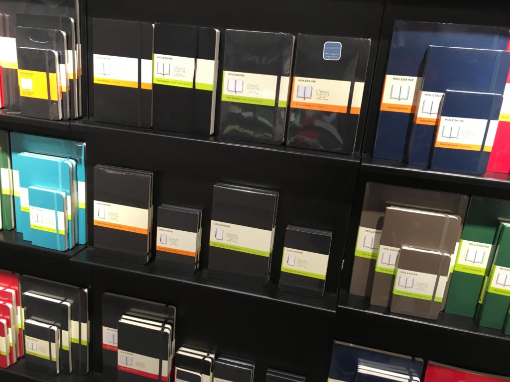 moleskine planner review stationery store in amsterdam netherlands