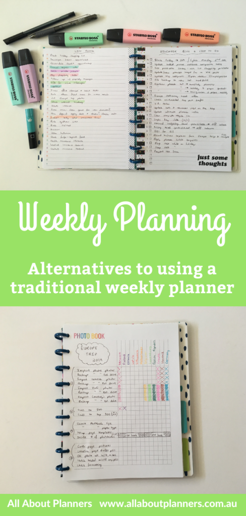 alternative to traditional weekly planner happy notes classic spread checklist functional quick simple planning ideas