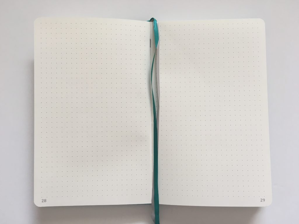 artfan bullet journal notebook dot grid spacing 5mm