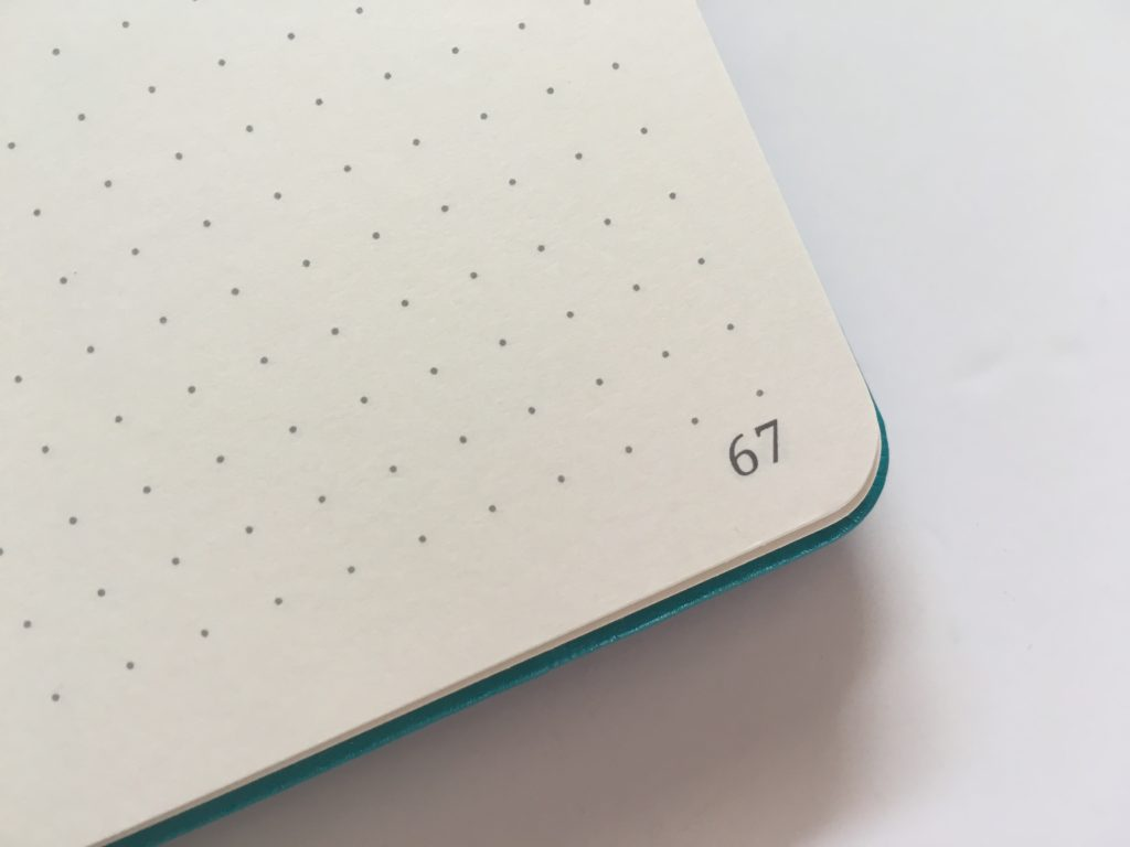 artfan dot grid notebook numbered pages 5mm spacing