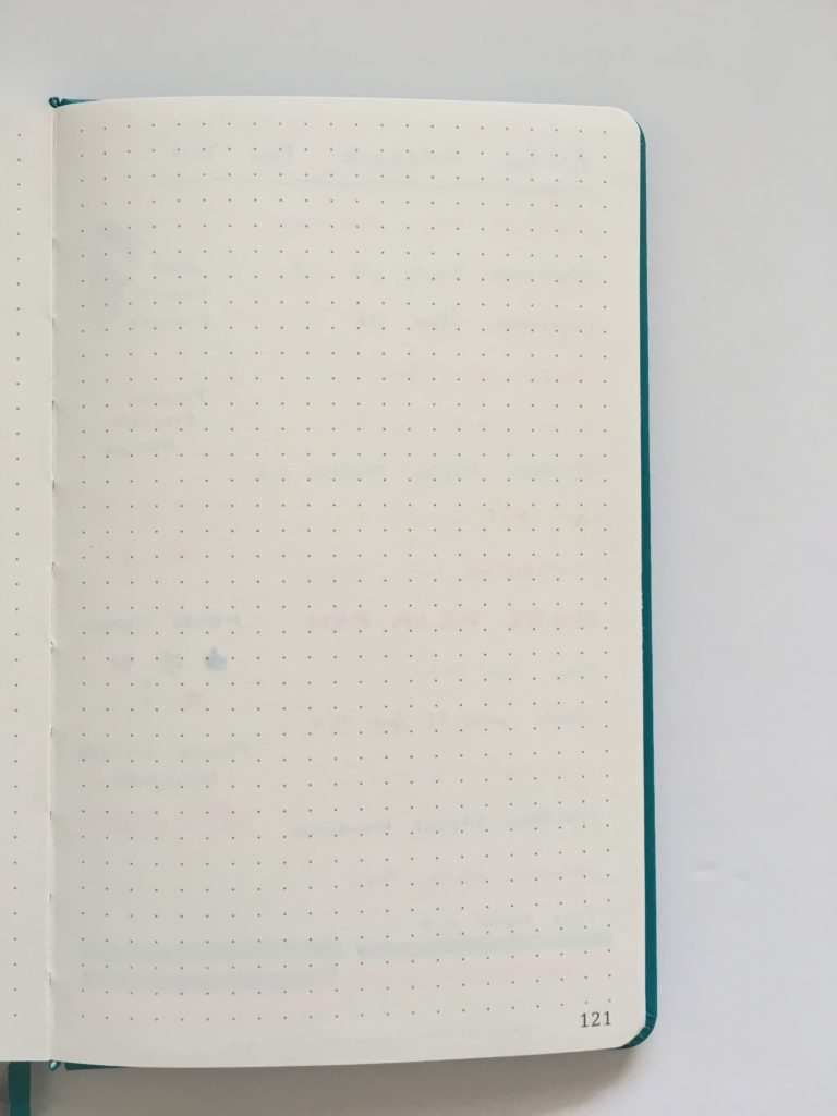 artfan dot grid notebook pen testing paper quality ghosting bleed through highlighter stamp pens ivory paper