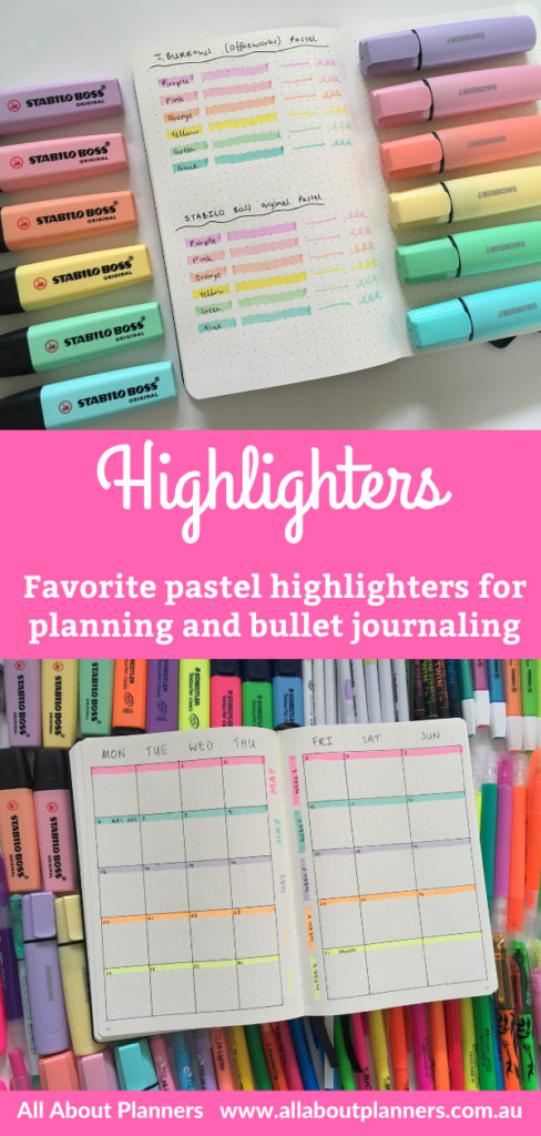 best pastel highlighters for planning and bullet journaling bujo stabilo boss swing cool pen like chisel tip 5mm recommendation