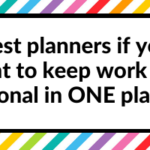 The best planners if you want to keep work and personal in the same planner