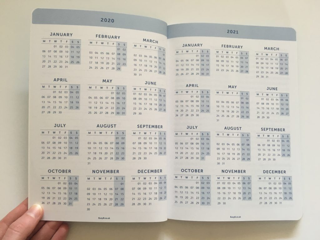 busy b weekly planner review annual dates at a glance yearly overview