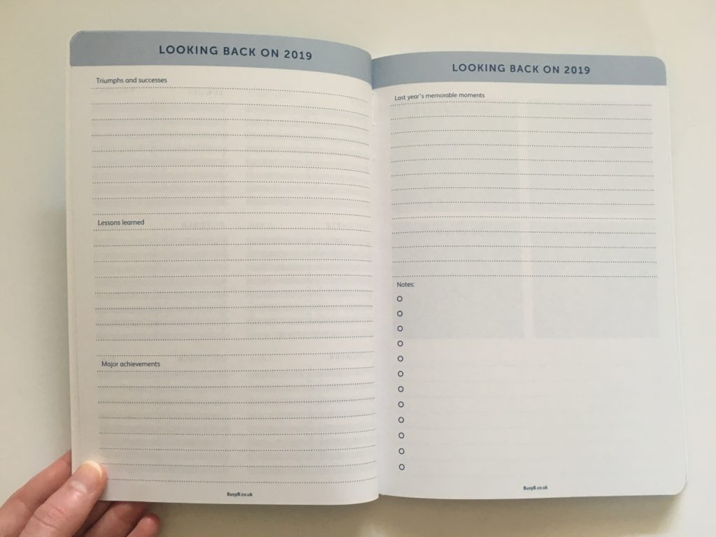 busy b weekly planner review goal planner 12 month planner horizontal weekly spread monday start lined notes
