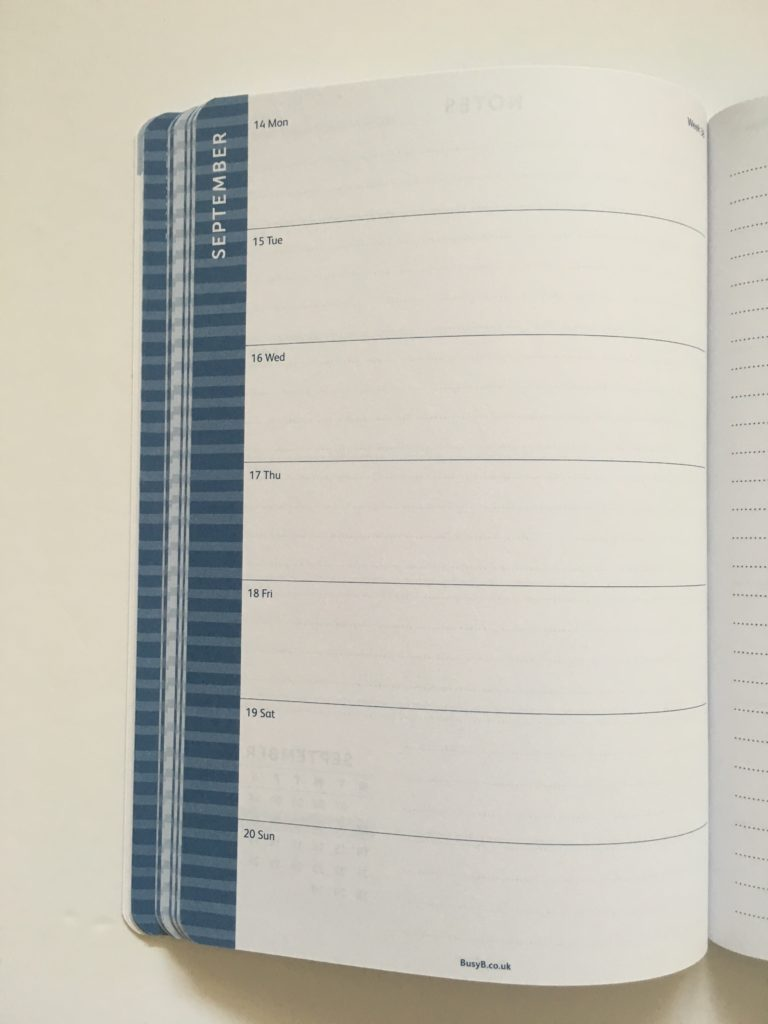 busy b weekly planner review goal planner 12 month planner horizontal weekly spread monday start lined notes minimalist