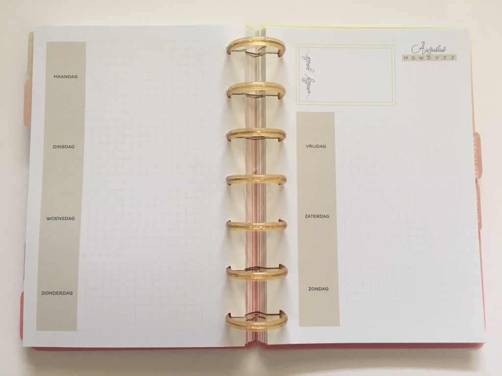 discbound horizontal weekly planner review musboeken