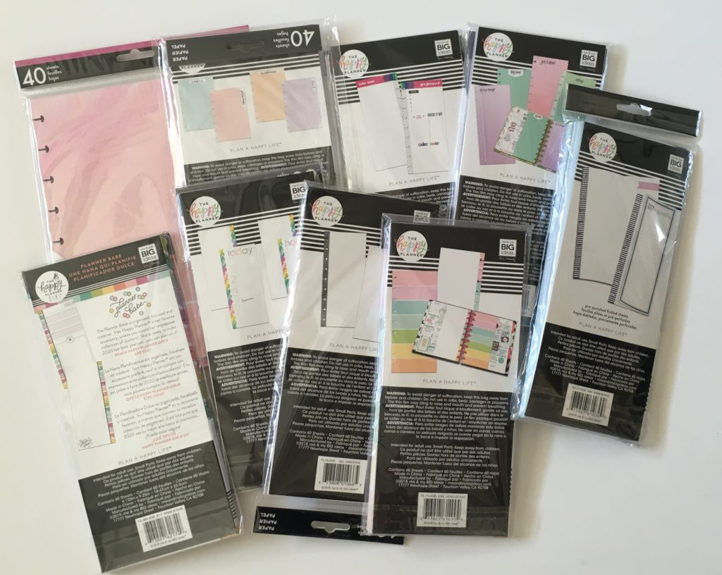favorite happy planner bullet journal inserts refills classic size half sheet dot grid weekly planning functional cute affordable all about planners carefully crafted
